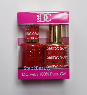 DND DC - Gel Polish & Matching Nail Lacquer Set - #066 FRENCH RASPBERRY