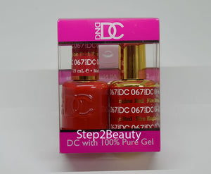 DND DC - Gel Polish & Matching Nail Lacquer Set - #067 FIRE ENGINE RED