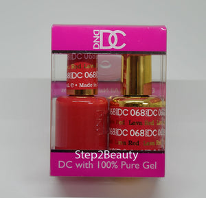 DND DC - Gel Polish & Matching Nail Lacquer Set - #068 LAVA RED