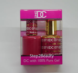 DND DC - Gel Polish & Matching Nail Lacquer Set - #071 CHERRY PUNCH