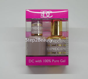 DND DC - Gel Polish & Matching Nail Lacquer Set - #079 LEAD GRAY