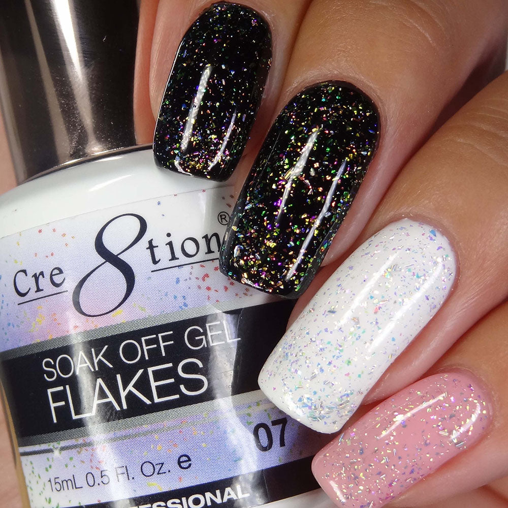 Cre8tion Flakes Soak Off Gel UV/LED 0.5 Fl oz - 07