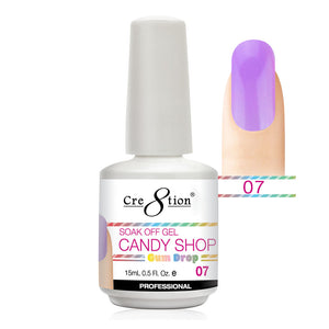 Cre8tion Soak Off Gel UV/LED 0.5 Fl oz. - Candy Shop 07