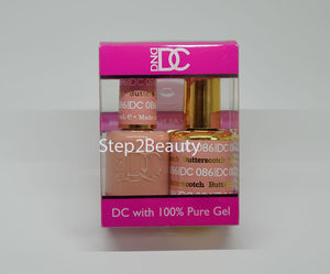 DND DC - Gel Polish & Matching Nail Lacquer Set - #086 BUTTERSCOTCH