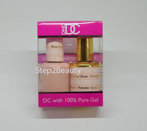 DND DC - Gel Polish & Matching Nail Lacquer Set - #087 ROSE POWDER