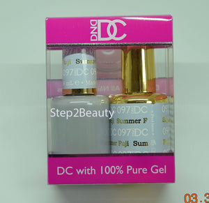 DND DC - Gel Polish & Matching Nail Lacquer Set - #097 SUMMER FUJI