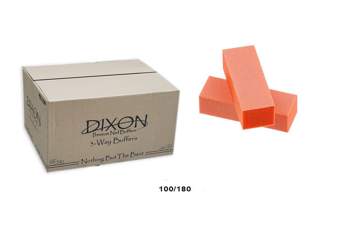 Dixon Orange Buffer White Grit Premium 3-Way |100/180 (CASE 500 pcs)