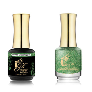 IGel Nail lacquer and gel polish matching - 100 GRASSHOPPER