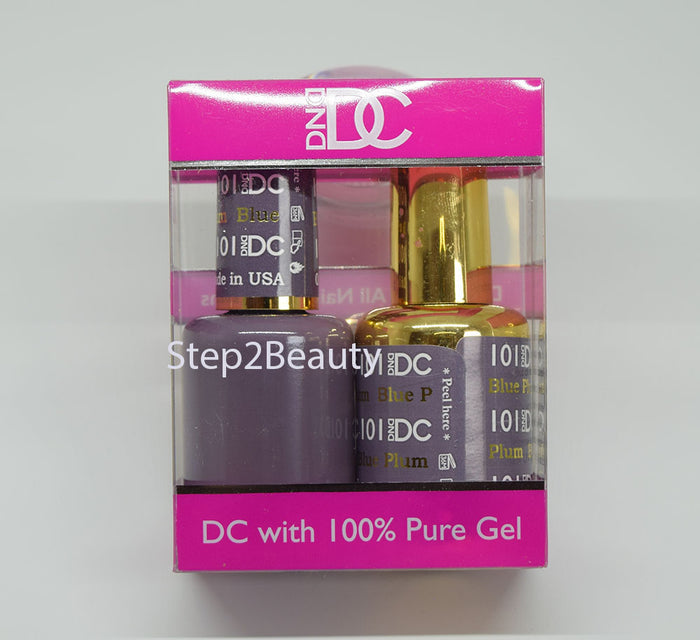 DND DC - Gel Polish & Matching Nail Lacquer Set - #101 BLUE PLUM