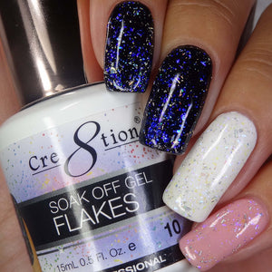Cre8tion Flakes Soak Off Gel UV/LED 0.5 Fl oz - 10