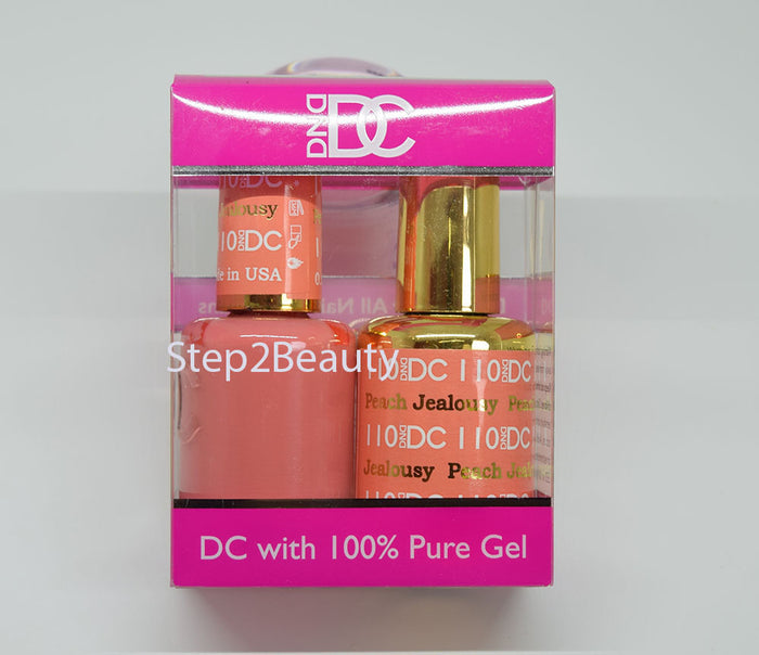 DND DC - Gel Polish & Matching Nail Lacquer Set - #110 PEACH JEALOUSY