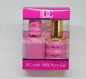 DND DC - Gel Polish & Matching Nail Lacquer Set - #115 CHARMING PINK