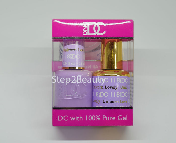 DND DC - Gel Polish & Matching Nail Lacquer Set - #118 UNICORN LOVELY