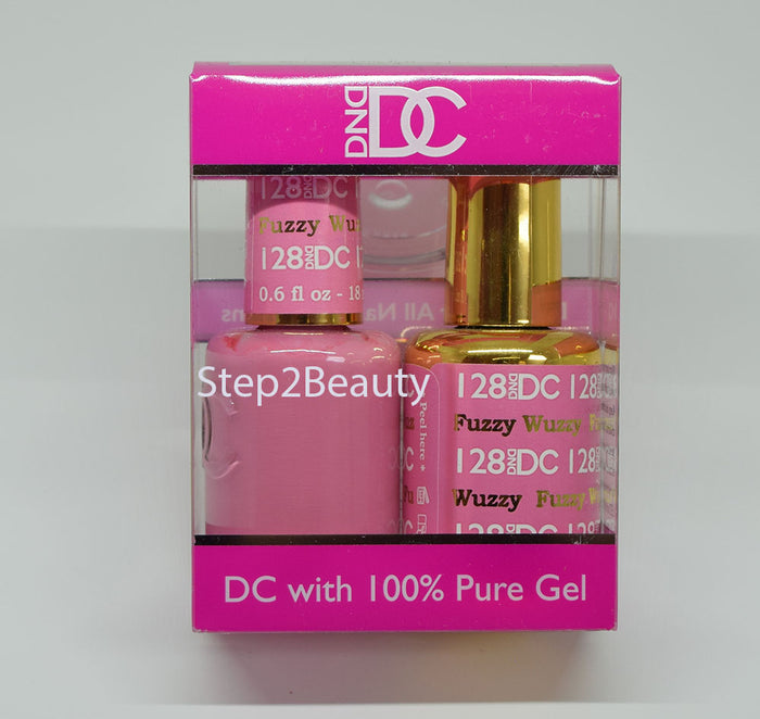 DND DC - Gel Polish & Matching Nail Lacquer Set - #128 Fuzzy Wuzzy