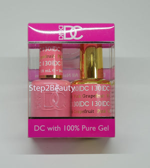 DND DC - Gel Polish & Matching Nail Lacquer Set - #130 PINK GRAPEFRUIT