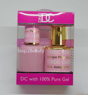 DND DC - Gel Polish & Matching Nail Lacquer Set - #133 ANTIQUE PINK