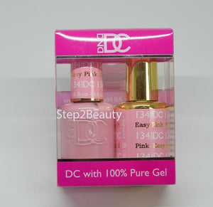 DND DC - Gel Polish & Matching Nail Lacquer Set - #134 EASY PINK