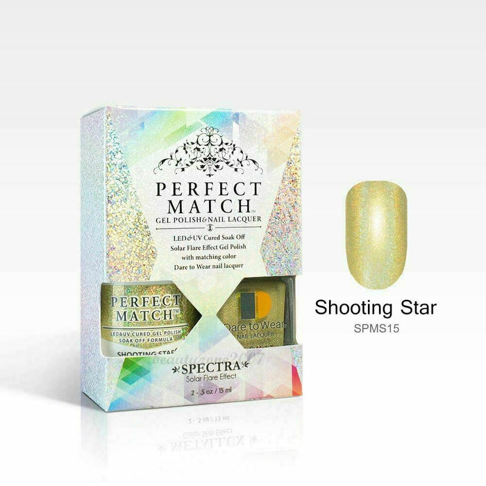 LeChat Perfect Match Spectra Soak off Gel + Nail Lacquer #SPMS15 Shooting Star