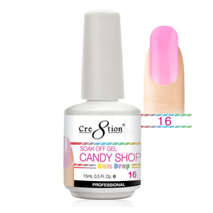 Cre8tion Soak Off Gel UV/LED 0.5 Fl oz. - Candy Shop 16