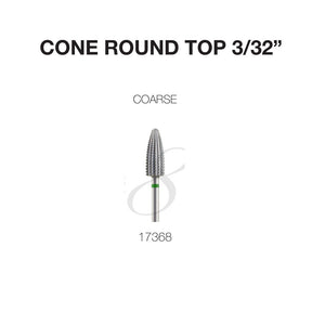 Drill Carbide Bit 3/32'' Shank  | Cre8tion 17368 - Cone Round Top - Coarse
