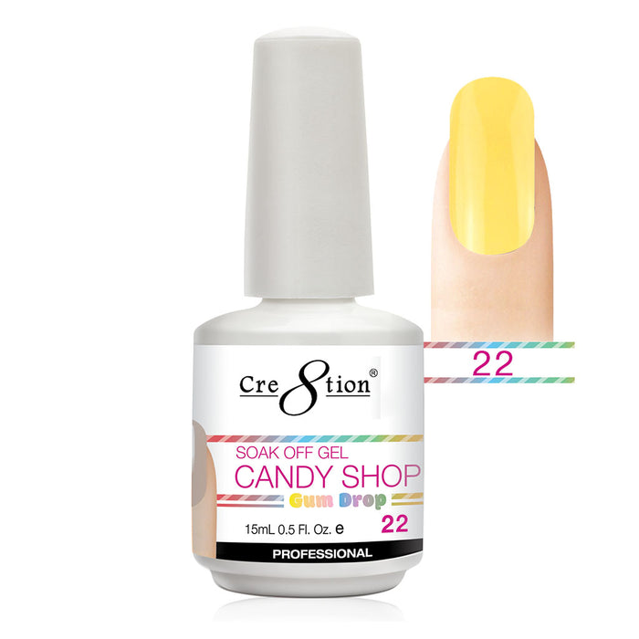 Cre8tion Soak Off Gel UV/LED 0.5 Fl oz. - Candy Shop 22