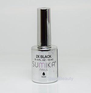 Sumika Soak Off Gel Polish UV/LED 0.5 oz | 2X BLACK