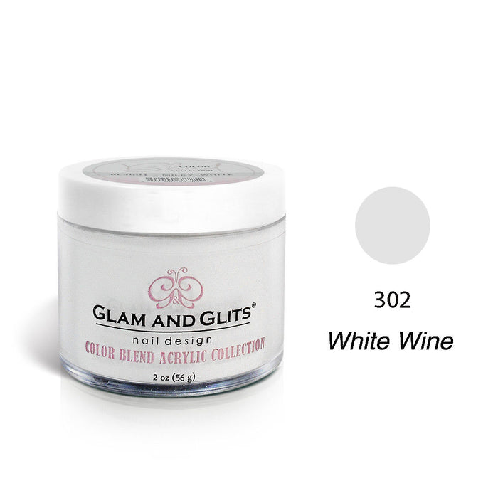 Glam and Glits BLEND Ombre Acrylic Marble Nail Powder 2 oz - BL3002 WHITE-WINE