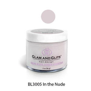 Glam and Glits BLEND Ombre Acrylic Marble Nail Powder 2 oz - BL3005 IN THE NUDE