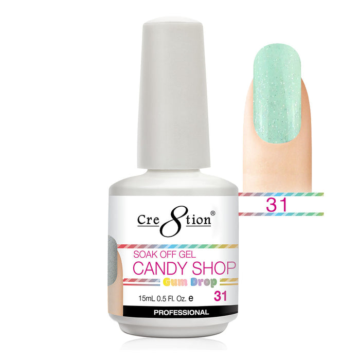 Cre8tion Soak Off Gel UV/LED 0.5 Fl oz. - Candy Shop 31