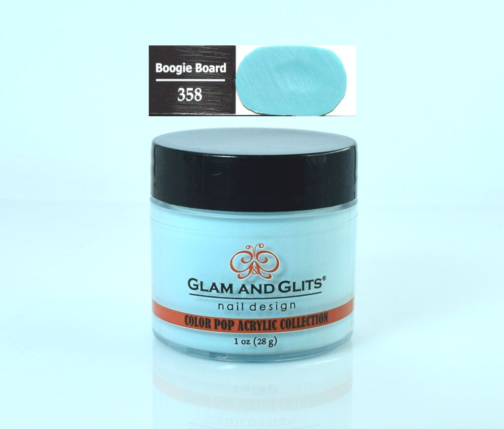Glam & Glits - Color Pop Acrylic Powder 1 oz - CPA358 BOOGIE BOARD
