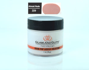 Glam & Glits - Color Pop Acrylic Powder 1 oz - CPA359 ALMOST NUDE