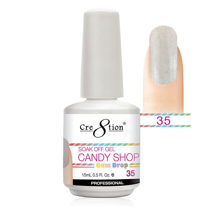 Cre8tion Soak Off Gel UV/LED 0.5 Fl oz. - Candy Shop 35