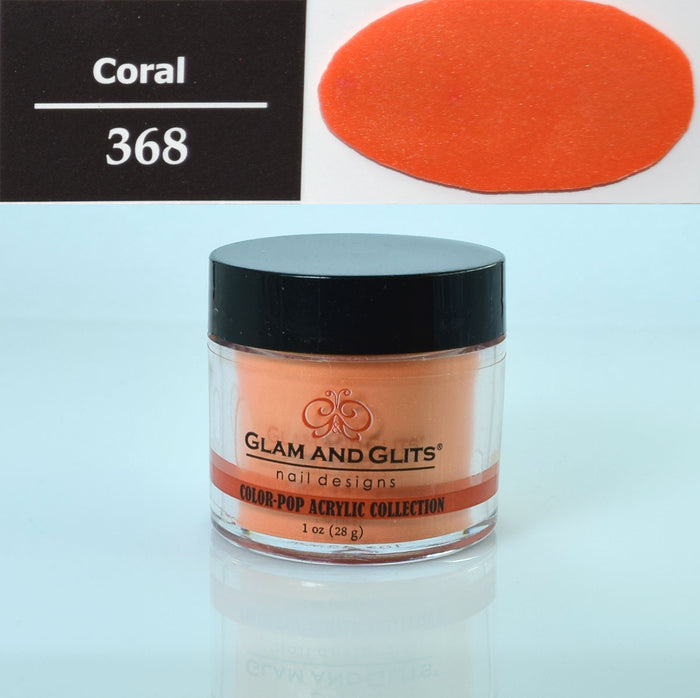 Glam & Glits - Color Pop Acrylic Powder 1 oz - CPA368 CORAL