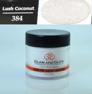 Glam & Glits - Color Pop Acrylic Powder 1 oz - CPA384 LUSH COCONUT