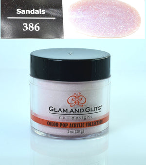 Glam & Glits - Color Pop Acrylic Powder 1 oz - CPA386 SANDALS