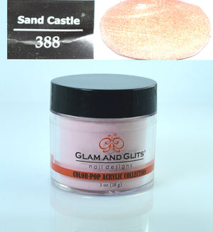 Glam & Glits - Color Pop Acrylic Powder 1 oz - CPA388 SANDCASTLE