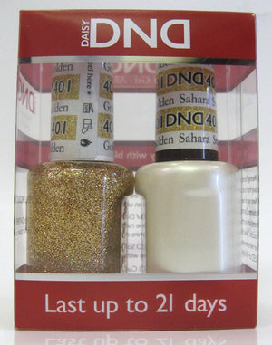 DND - Soak Off Gel Polish & Matching Nail Lacquer Set - #401 Golden Sahara Star
