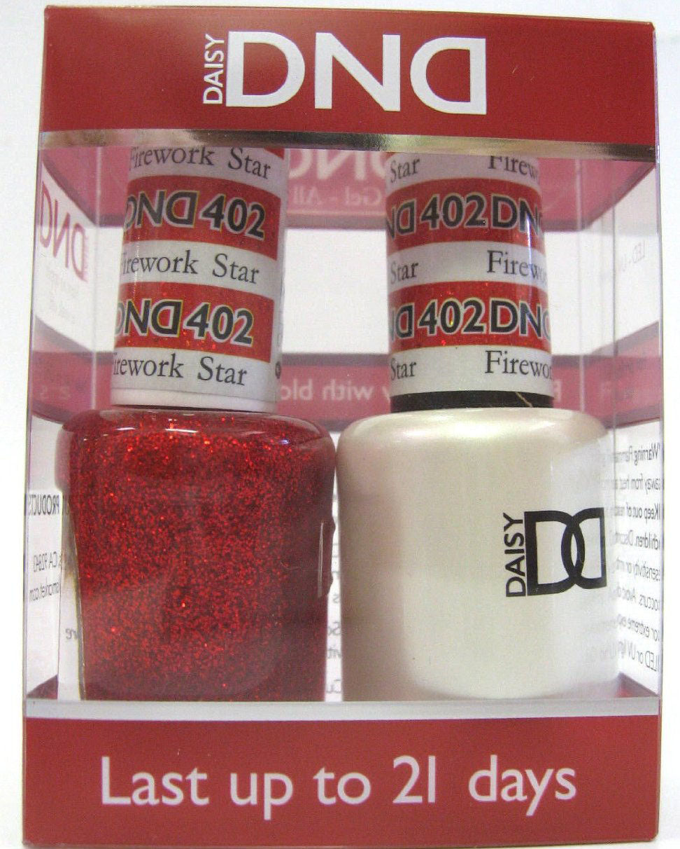 DND - Soak Off Gel Polish & Matching Nail Lacquer Set - #402 Firework Star