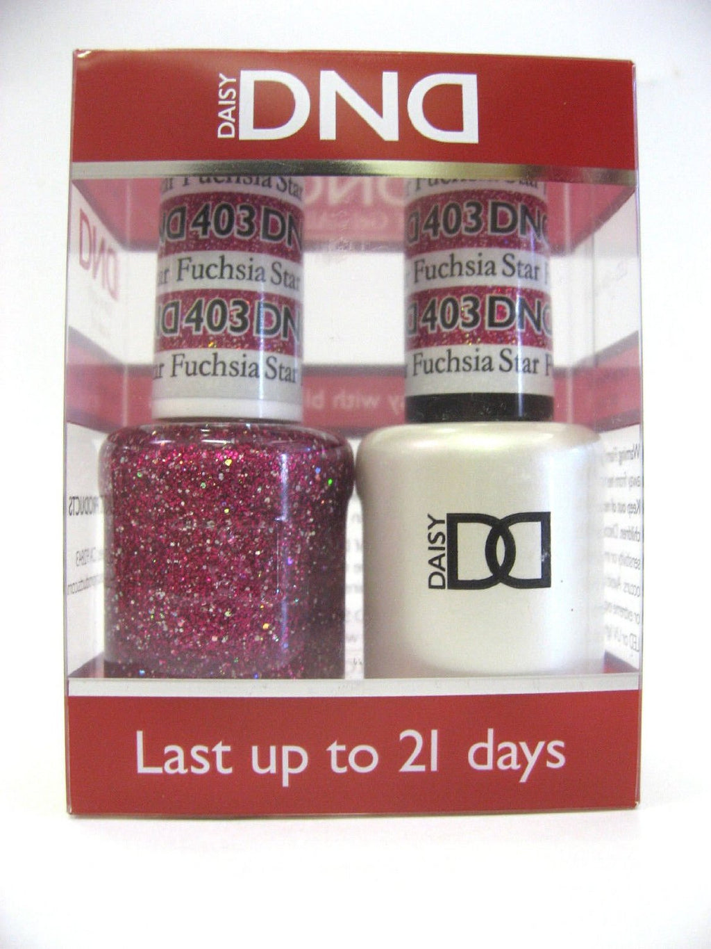 DND - Soak Off Gel Polish & Matching Nail Lacquer Set - #403 FUCHSIA STAR
