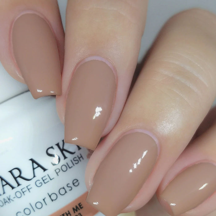 Kiara Sky Gel Polish + Matching Nail Lacquer - #403 BARE WITH ME