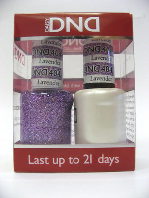 DND - Soak Off Gel Polish & Matching Nail Lacquer Set - #404 LAVENDER DAISY STAR