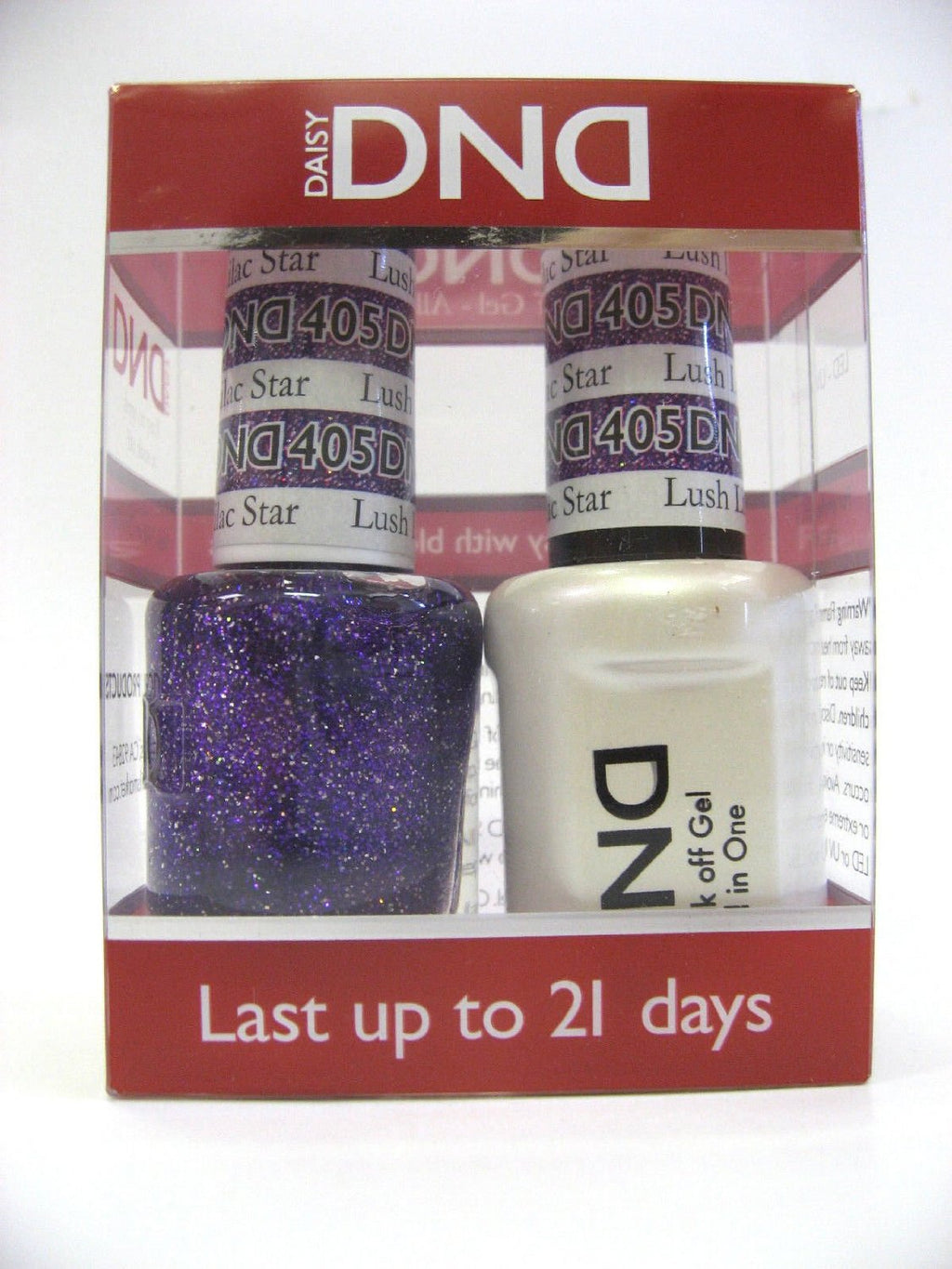 DND - Soak Off Gel Polish & Matching Nail Lacquer Set - #405 LUSH LILAC STAR