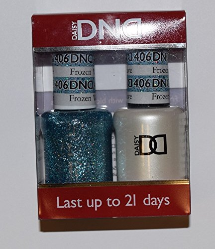 DND - Soak Off Gel Polish & Matching Nail Lacquer Set - #406 FROZEN WAVE