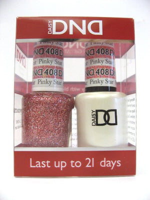 DND - Soak Off Gel Polish & Matching Nail Lacquer Set - #408 Pinky Star