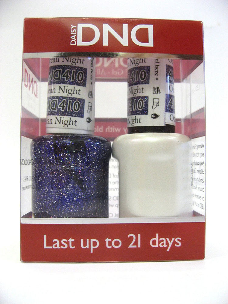 DND - Soak Off Gel Polish & Matching Nail Lacquer Set - #410 OCEAN NIGHT STAR