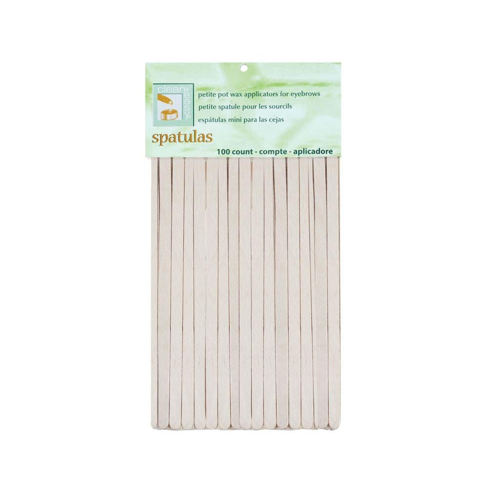 Clean + Easy Petite pot wax Applicators for eyebrows 100 count #41105 (2 packs)