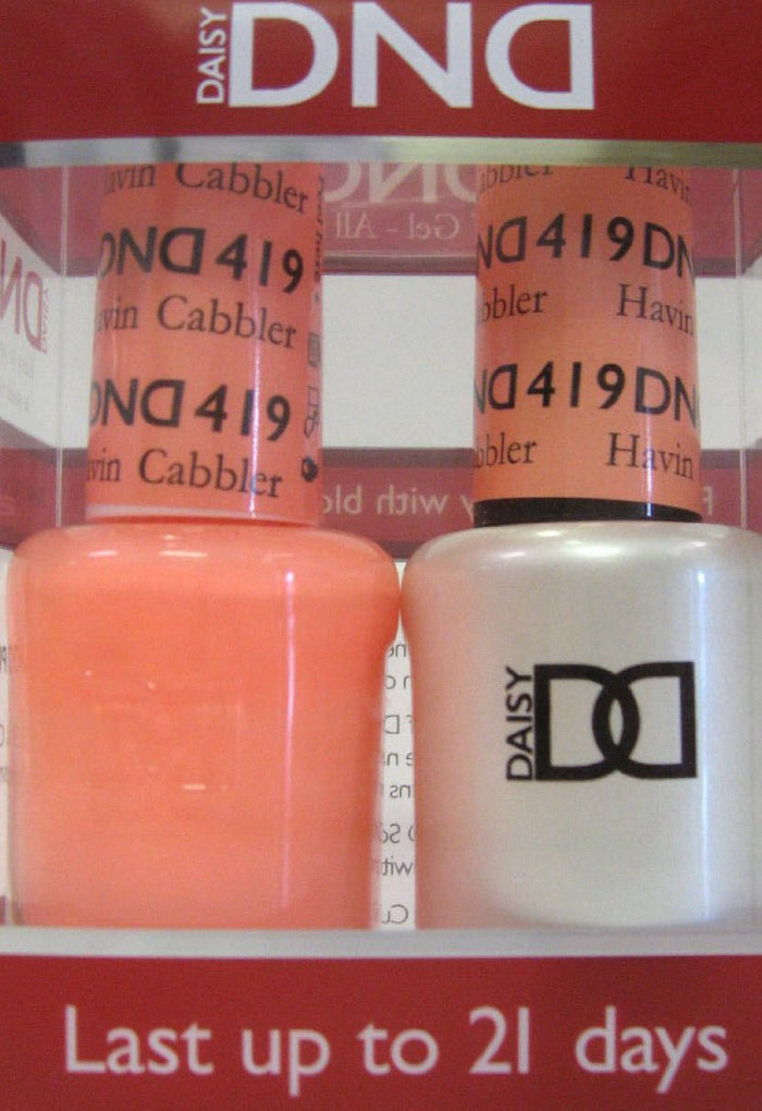 DND - Soak Off Gel Polish & Matching Nail Lacquer Set - #419 HAVIN CABBLER