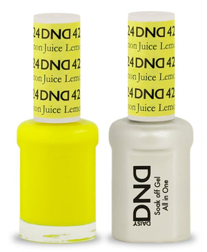 DND - Soak Off Gel Polish & Matching Nail Lacquer Set - #424 Lemon Juice