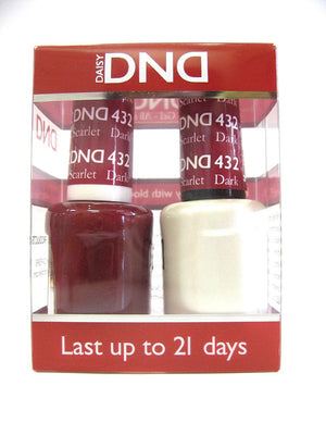 DND - Soak Off Gel Polish & Matching Nail Lacquer Set - #432 Dark Scarlet