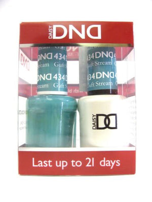 DND - Soak Off Gel Polish & Matching Nail Lacquer Set - #434 GULF STREAM